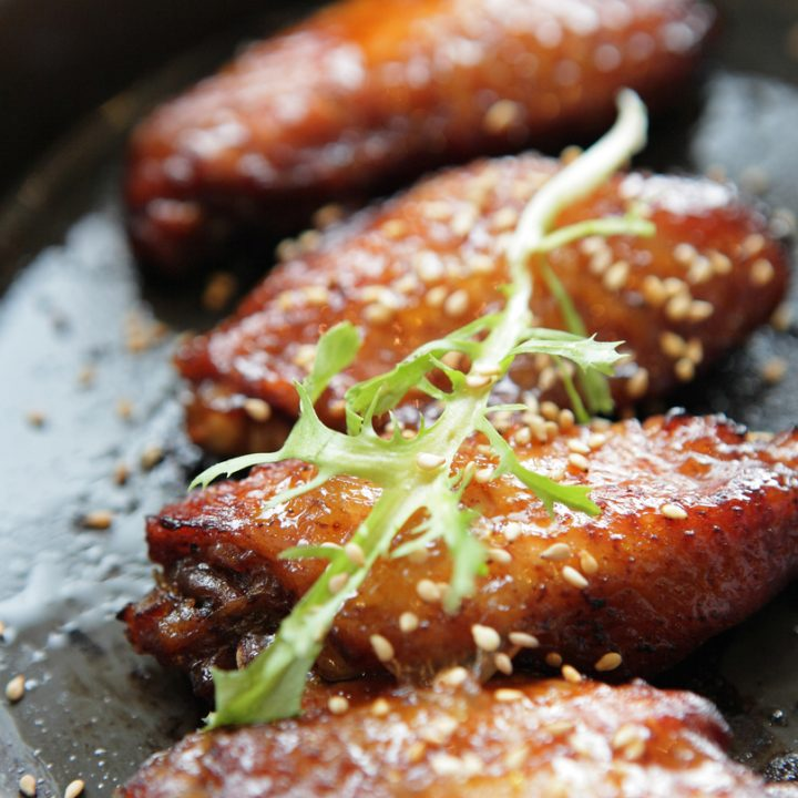 Maple Glazed Sesame Chicken Wings