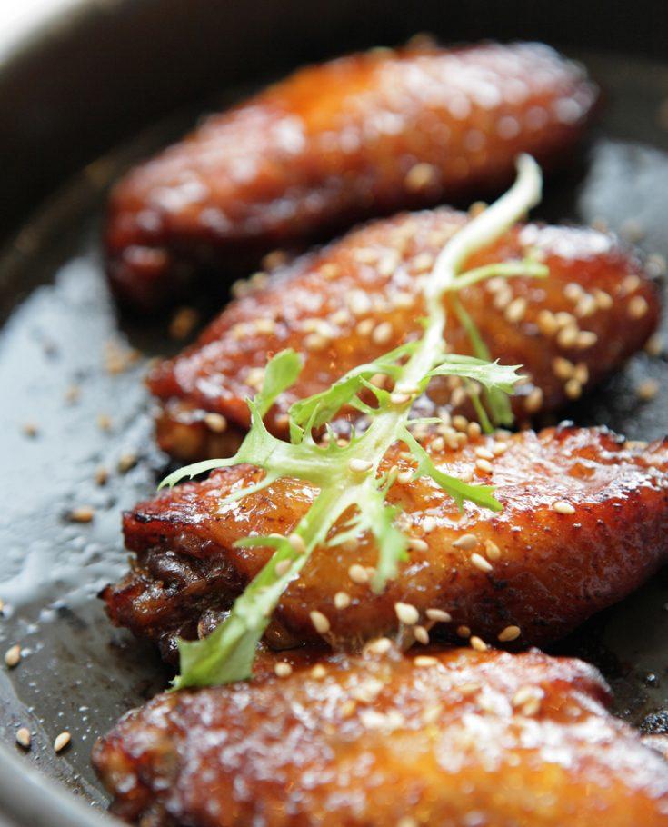 Maple Glazed Sesame Chicken Wings