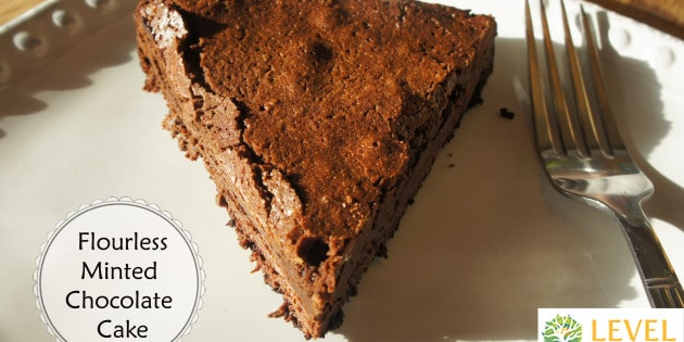 minted flourless chocolate cake