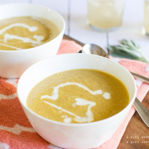 Parmesan Delicata Squash Soup
