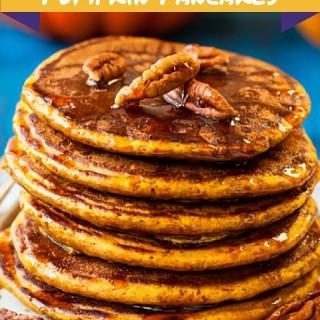 Paleo Baked Pumpkin Pancakes