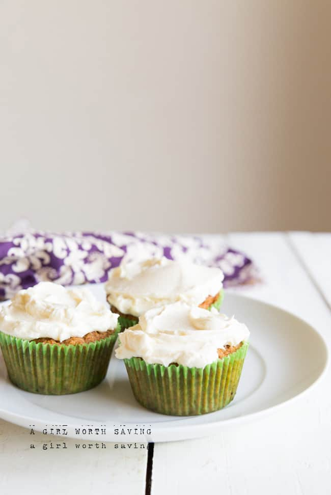 Paleo Carrot Cupcakes using Coconut Flour
