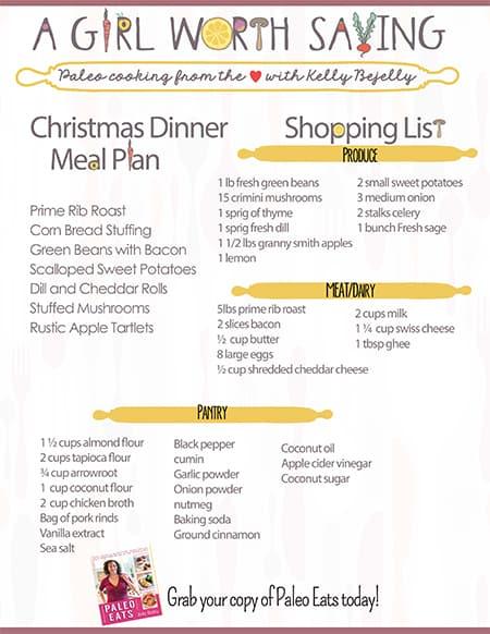 Paleo Christmas Dinner Menu - A Girl Worth Saving