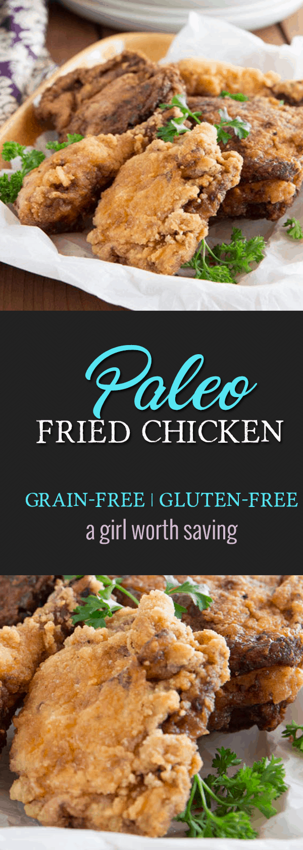 Marinated in tomato juice and then breaded with a tapioca flour mix, this Crispy Paleo Fried Chicken is Finger Licking Good! It's juicy and tender on the inside and crispy on the outside.