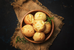 paleo garlic bread made with tapioca flour