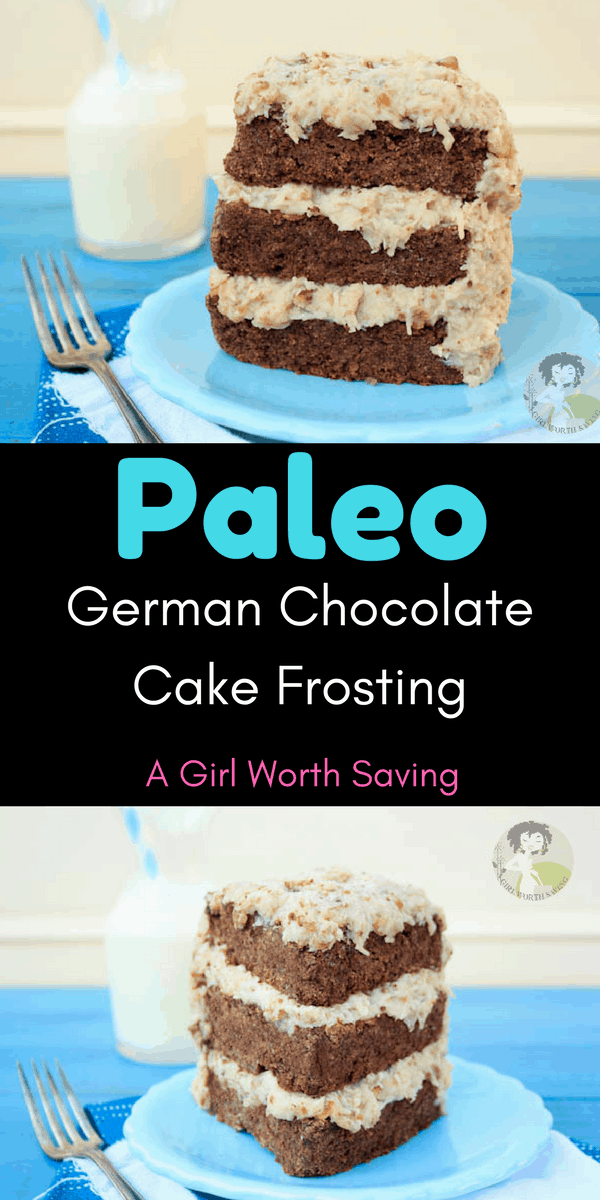 This easy German Chocolate Cake Frosting Recipe is made with all natural ingredients like coconut milk, pecans and maple syrup. The homemade vegan frosting is so good that you'll eat it by the spoonful!