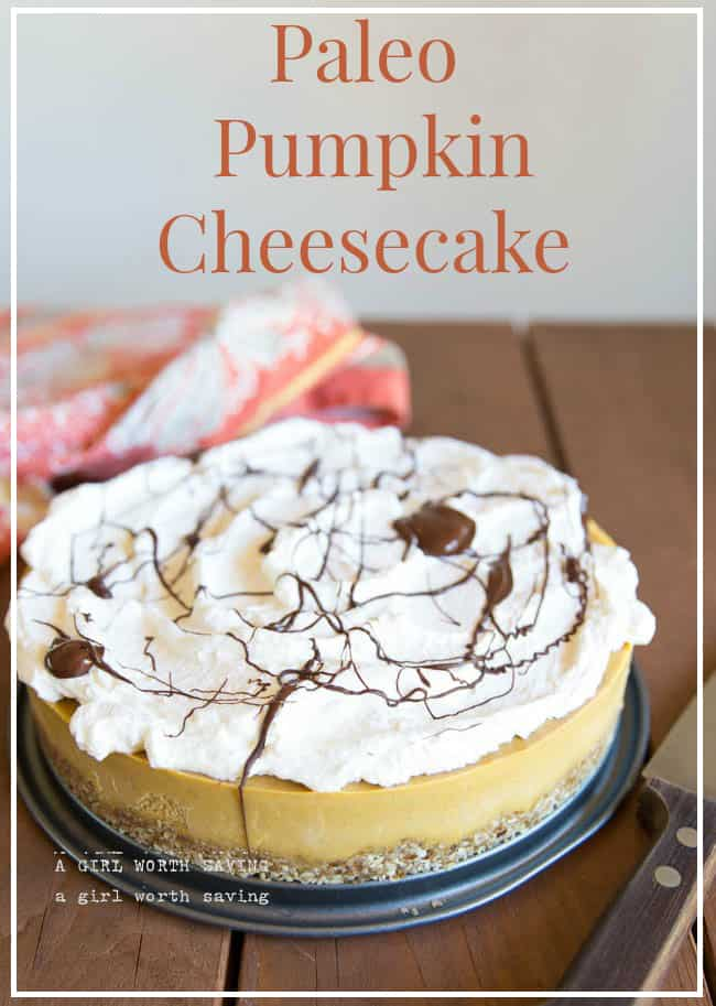 paleo pumpkin cheesecake