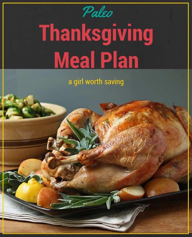 Paleo Thanksgiving Meal Plan
