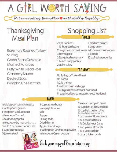 paleo thanksgiving menu