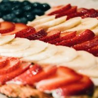 Paleo Red, White & Blue Fruit Pizza, A 4th of July Dessert