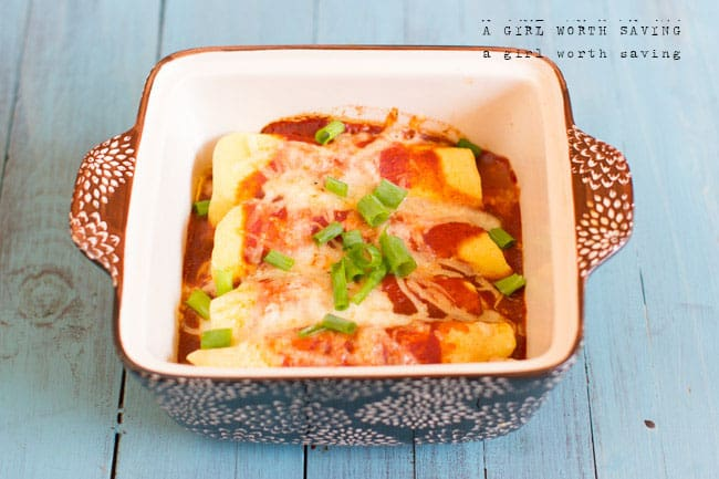 Easy Chicken Enchiladas | Paleo, Gluten-free