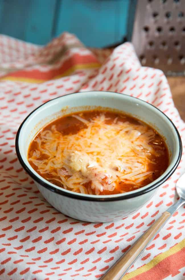 paleo pizza soup