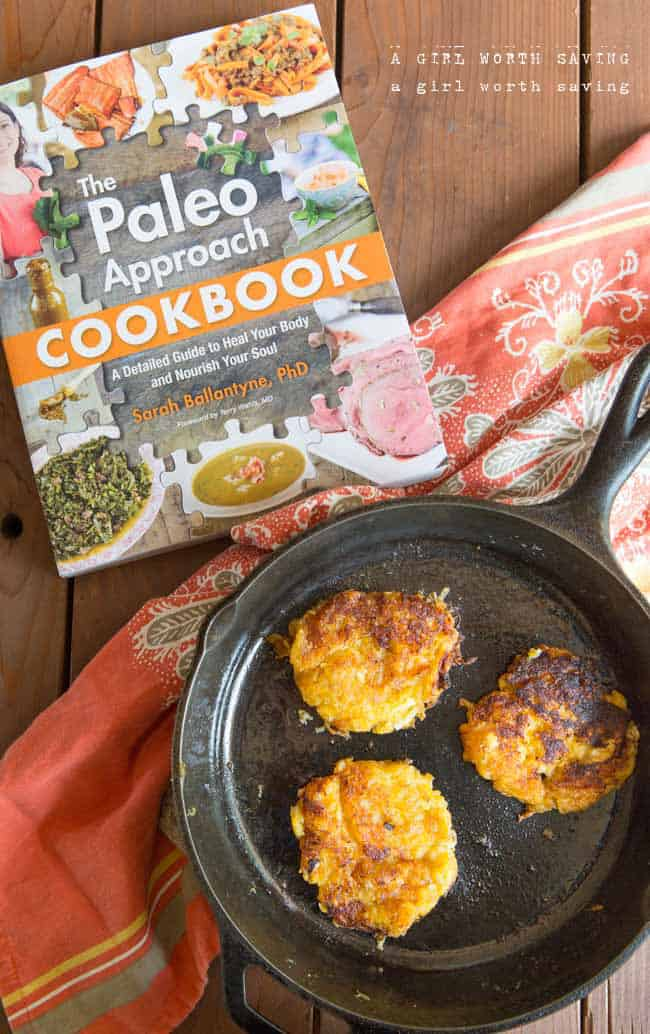 Plantain and apple fritters + The Paleo Approach Cookbook