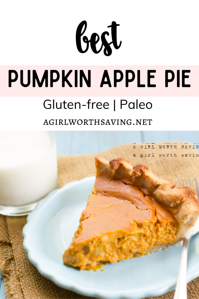 Like clockwork, I had a fried egg, some bacon and a slice of pumpkin pie the day after making this recipe.  When I started thinking about a paleo pumpkin apple pie recipe to share, I knew that I wanted to change it up and add apple butter.