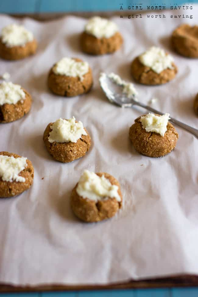 pumpkin spice thumbprint cookies 21dsd