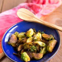 A real food sweet chili Brussels sprouts - A Girl Worth Saving