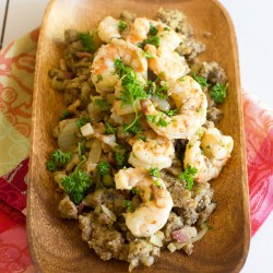 Paleo Shrimp and Bacon Dressing Thanksgiving
