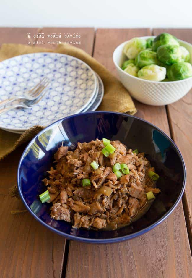 slow cooker shredded pork