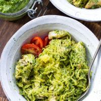Chicken Pesto Paleo Spaghetti Squash {Whole30}
