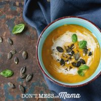 Gluten-Free Creamy Sweet Potato Soup with Bacon