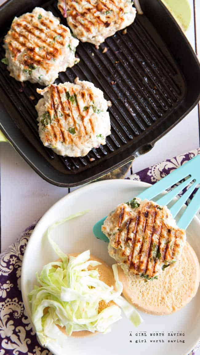Paleo thai chicken burgers that will make you slap your mama