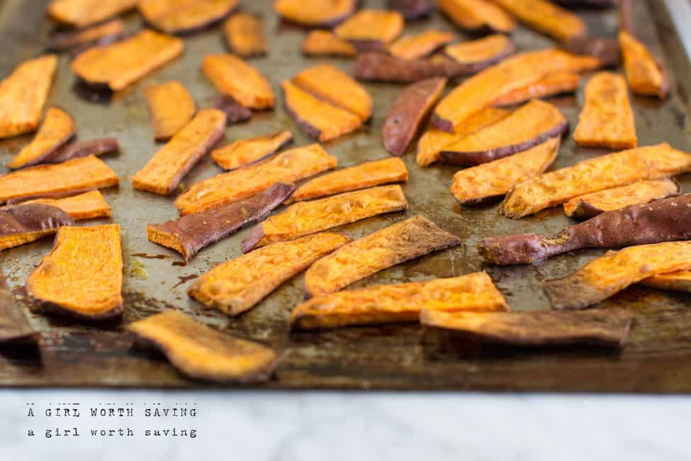roasted sweet potatoes fries