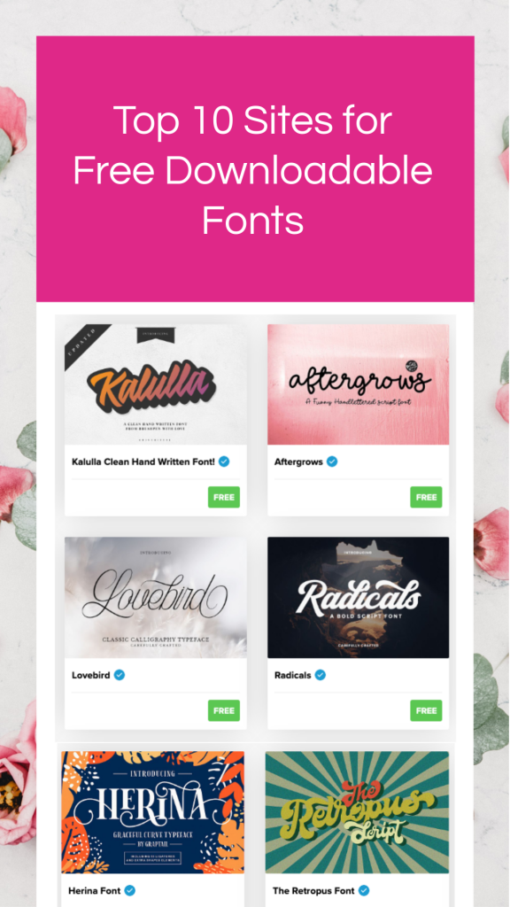 top 10 sites to download free fonts