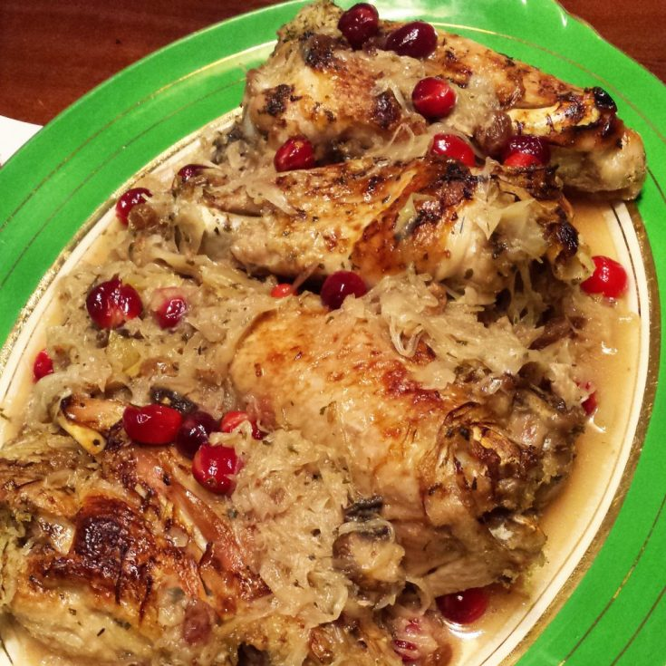 Turkey with Cranberries and Sauerkraut (Instant Pot, AIP)